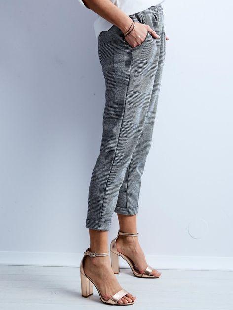 Szare spodnie 7/8 w kratę                              zdj.                              7