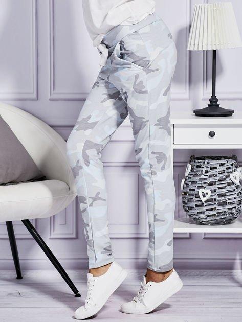 Szare spodnie dresowe w militarny wzór                              zdj.                              5
