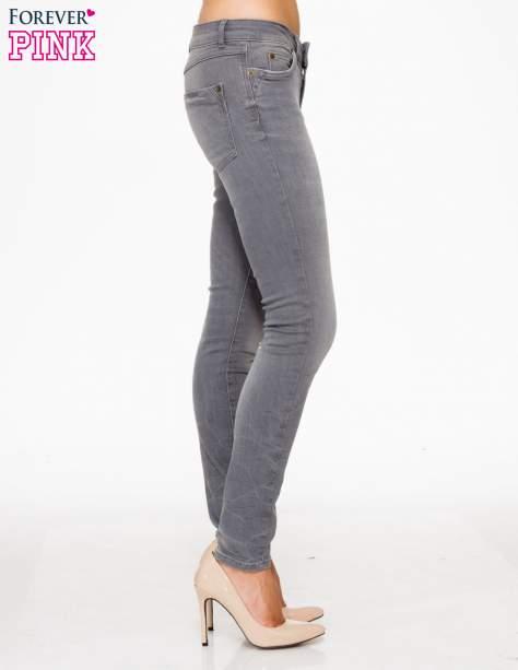 Szare spodnie jeansowe rurki z lekkim cieniowaniem                                  zdj.                                  3
