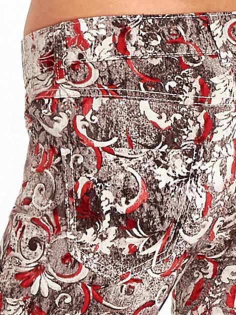 Szare spodnie skinny w kwiaty                                  zdj.                                  6