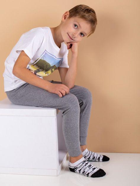 Szare spodnie termoaktywne dla chłopca