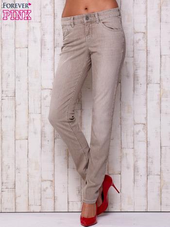Szare spodnie z prostą nogawką                                  zdj.                                  1