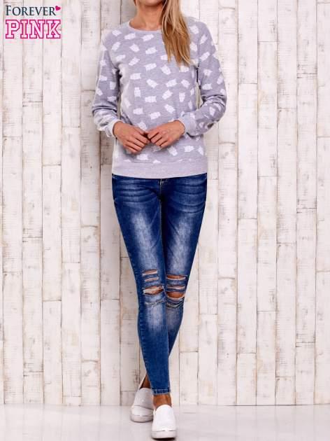 Szaro-biała bluza z motywem sów                                  zdj.                                  4