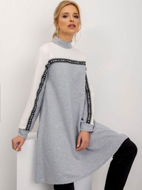 Szaro-biała sukienka Team