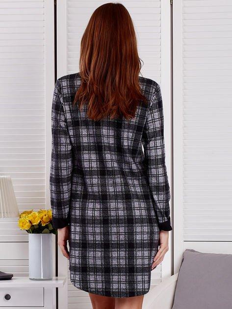Szaro-czarna sukienka w kratę                              zdj.                              2