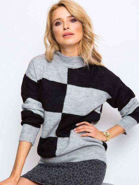Szaro-czarny sweter Francesca                              zdj.                              5