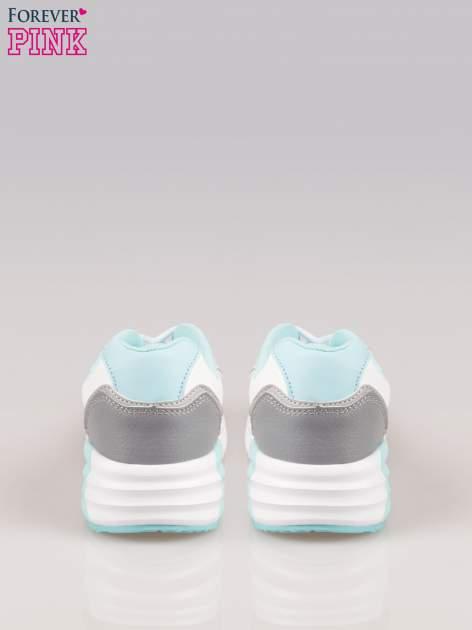 Szaro-niebieskie buty sportowe z poduszką powietrzną                                  zdj.                                  3