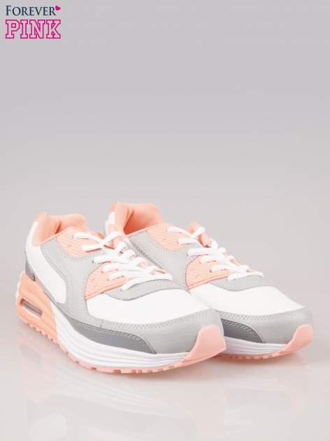 Szaro-pomarańczowe buty sportowe textile Make Up z poduszką powietrzną                                  zdj.                                  2