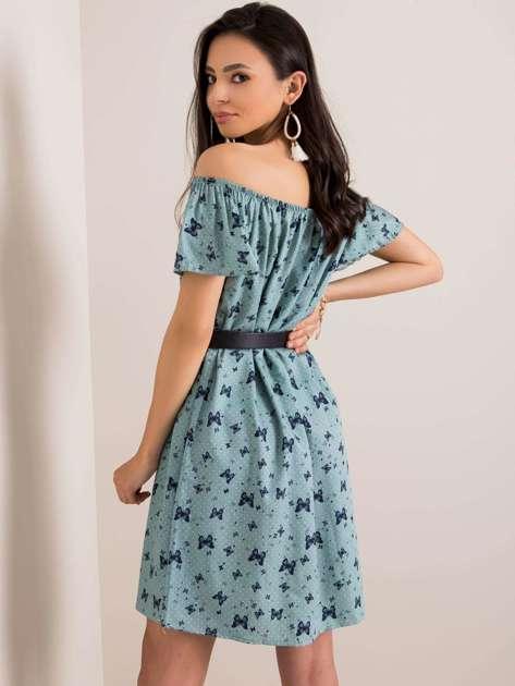 Szaro-zielona sukienka Becky