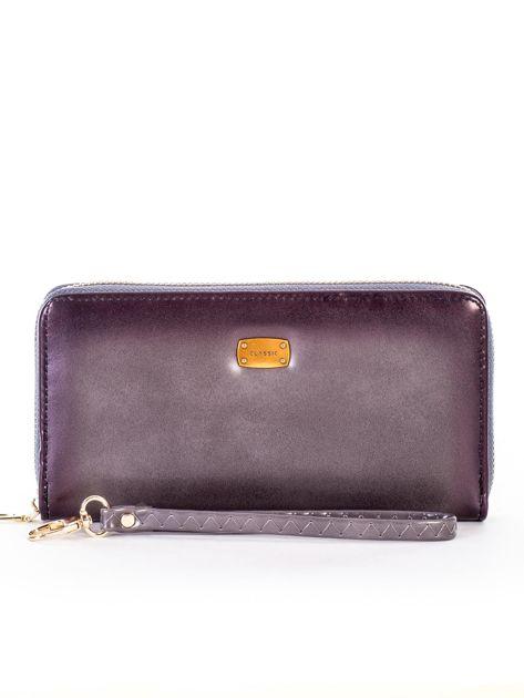 Szary cieniowany portfel z uchwytem