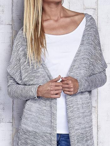Szary długi sweter wzór melanżowy                                  zdj.                                  7