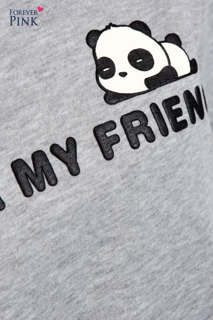 Szary dresowy komplet z motywem pandy                                  zdj.                                  11
