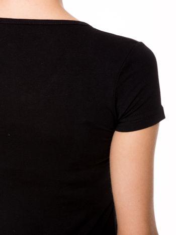 Czarny gładki t-shirt                                  zdj.                                  5