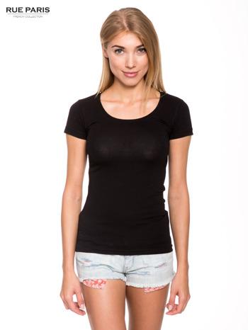 Szary gładki t-shirt                                  zdj.                                  1