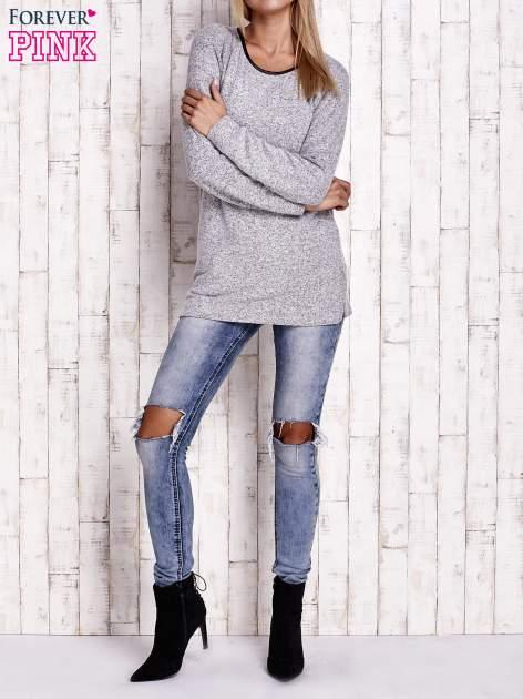 Szary melanżowy sweter                                   zdj.                                  2