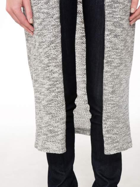 Szary melanżowy sweter typu długi kardigan                                  zdj.                                  7
