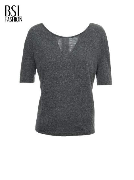 Szary melanżowy t-shirt o luźnym kroju                                  zdj.                                  2