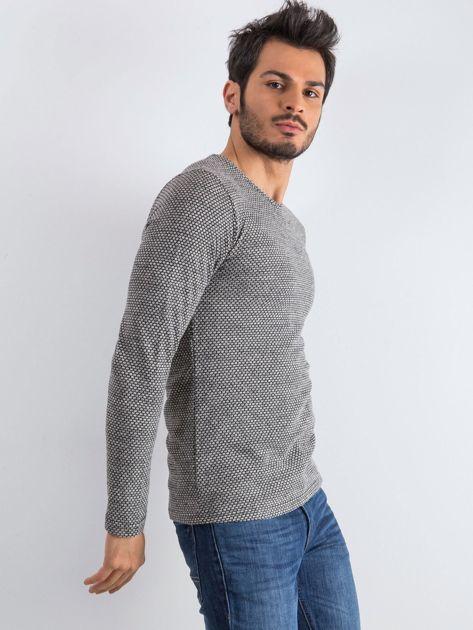 Szary sweter męski Mosaic                              zdj.                              3