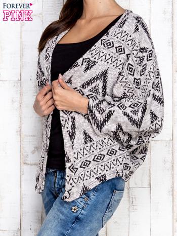 Szary sweter w azteckie wzory                                  zdj.                                  3