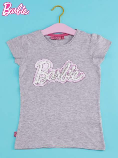 Szary t-shirt dla dziewczynki BARBIE                                  zdj.                                  1