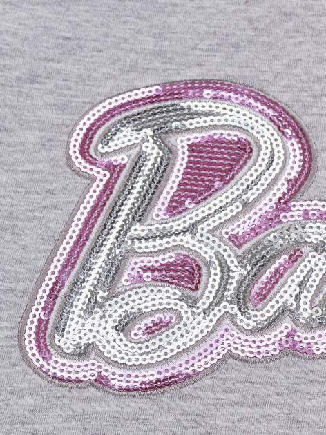 Szary t-shirt dla dziewczynki BARBIE                                  zdj.                                  3