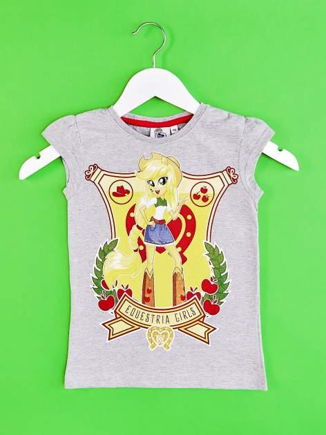 Szary t-shirt dla dziewczynki EQUESTRIA GIRLS                                  zdj.                                  1