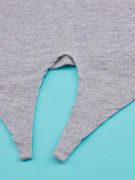 Szary t-shirt dla dziewczynki HELLO KITTY z wiązaniem na dole                                  zdj.                                  3