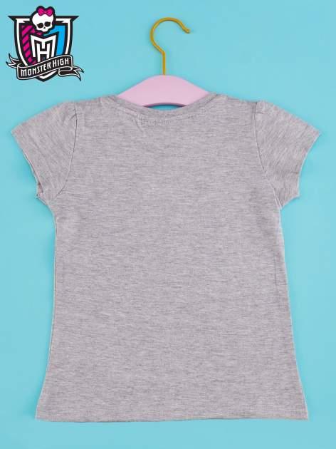 Szary t-shirt dla dziewczynki MONSTER HIGH                                  zdj.                                  2