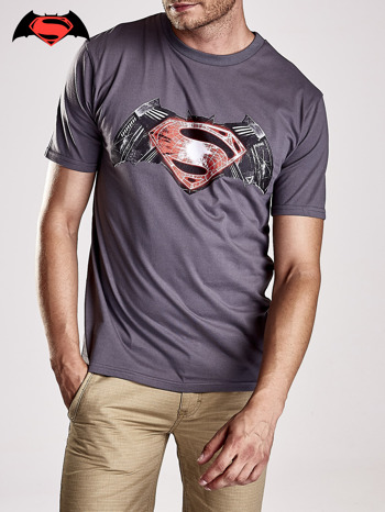 Szary t-shirt męski BATMAN V SUPERMAN                                  zdj.                                  4