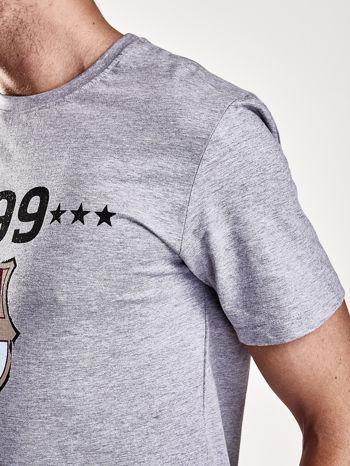 Szary t-shirt męski FC BARCELONA                                   zdj.                                  7
