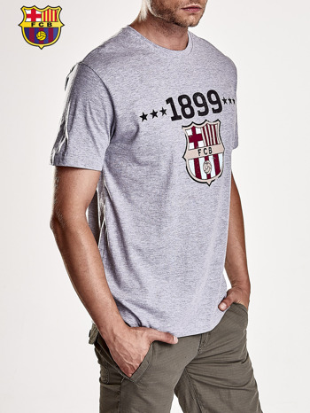 Szary t-shirt męski FC BARCELONA                                   zdj.                                  4
