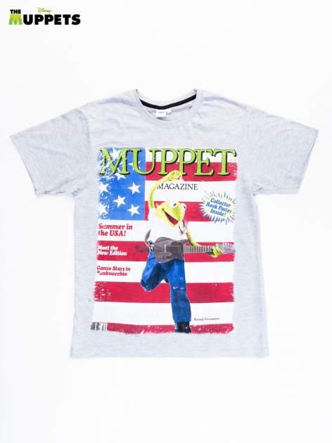 Szary t-shirt męski THE MUPPETS                                  zdj.                                  1