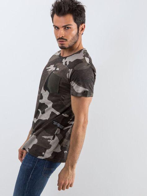 Szary t-shirt męski Warrior                              zdj.                              3