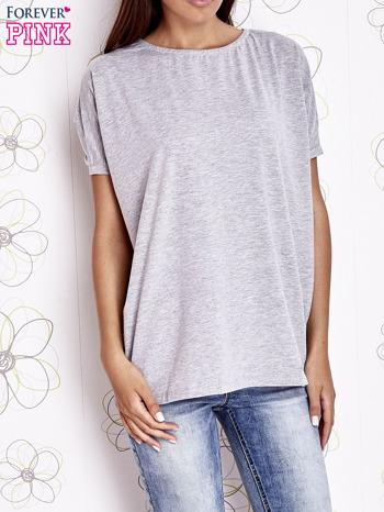 Szary t-shirt oversize                                  zdj.                                  1
