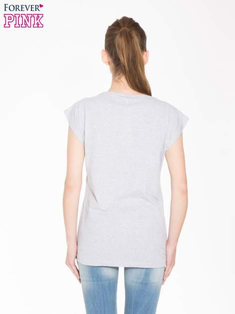 Szary t-shirt z nadrukiem I'M NOT PERFECT BUT I AM LIMITED EDITION                                  zdj.                                  3
