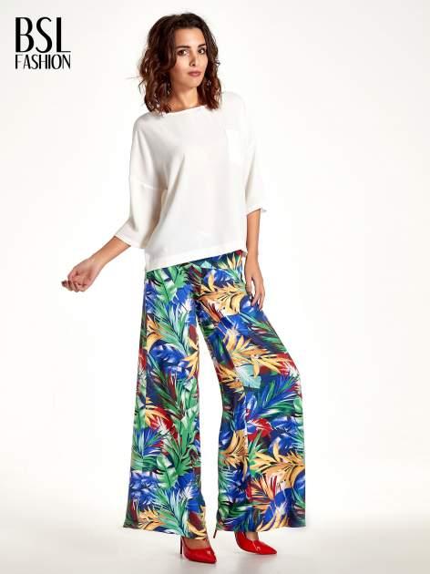 Szerokie spodnie culottes z egzotycznym nadrukiem                                  zdj.                                  2