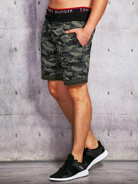 Szorty męskie w militarnym stylu khaki                              zdj.                              2