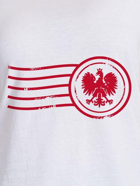 T-shirt damski z patriotycznym nadrukiem biały                                  zdj.                                  2
