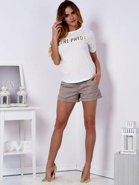 T-shirt ecru GIRL PRIDE                                   zdj.                                  4