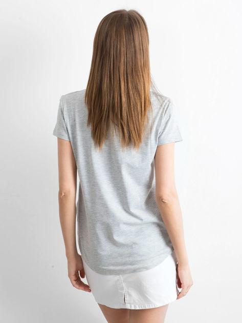 T-shirt szary Young                                  zdj.                                  4