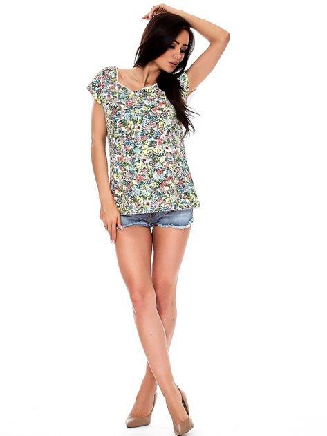 T-shirt w kolorowe drobne kwiatki                              zdj.                              10