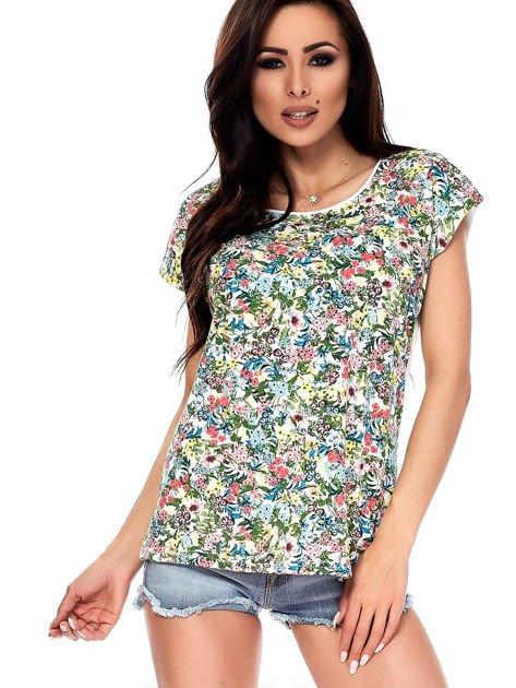 T-shirt w kolorowe drobne kwiatki                              zdj.                              11