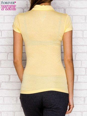 Koszulka polo z nadrukiem jasnożółty                              zdj.                              2