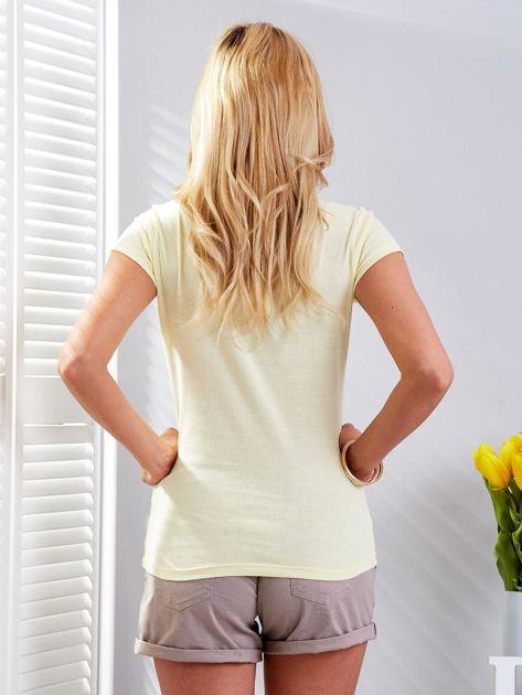T-shirt żółty z motylem                                  zdj.                                  3