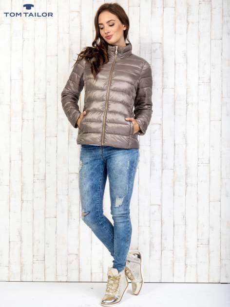 TOM TAILOR Brązowy dwuczęściowy płaszcz z kurtką pikowaną                                  zdj.                                  9