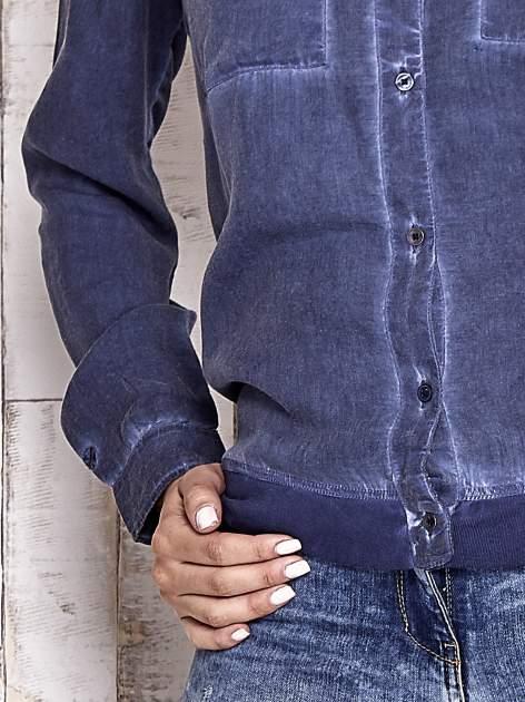 TOM TAILOR Ciemnoniebieska koszula acid wash                                  zdj.                                  7