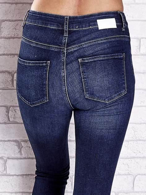 TOM TAILOR Ciemnoniebieskie przecierane spodnie jeansowe                                  zdj.                                  6