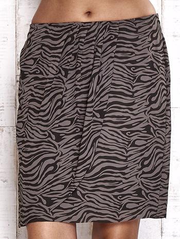 TOM TAILOR Czarna spódnica abstract print                                  zdj.                                  4