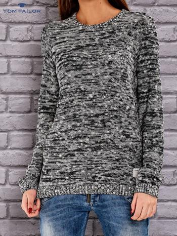 TOM TAILOR Czarny melanżowy sweter                                   zdj.                                  1