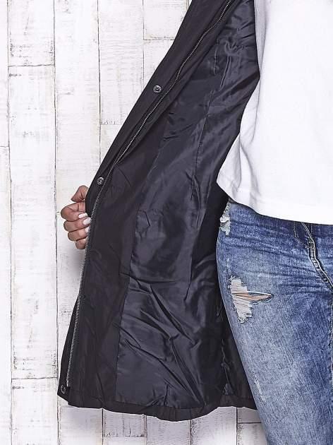 TOM TAILOR Czarny płaszcz z futrzanym kapturem                                  zdj.                                  8